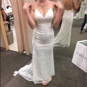Never worn wedding dress, worn for alterations